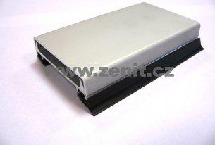 Zaklapávací krycí hliníková lišta (barva  elox stříbrný aa37489371